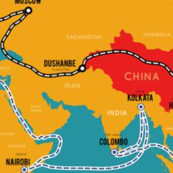 Map of one belt one road