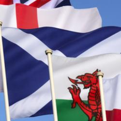 UK nations flags