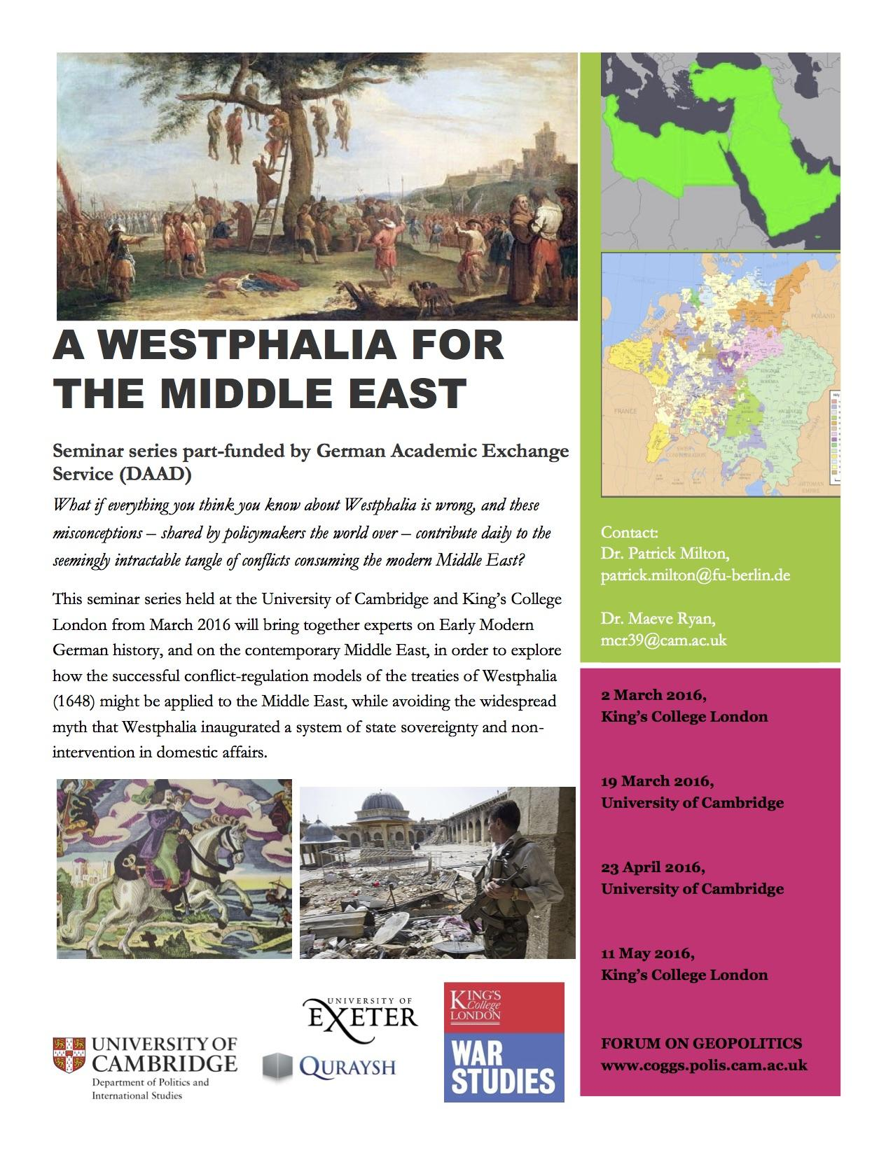 "Series report: ""A Westphalia for the Middle East Phase I"""